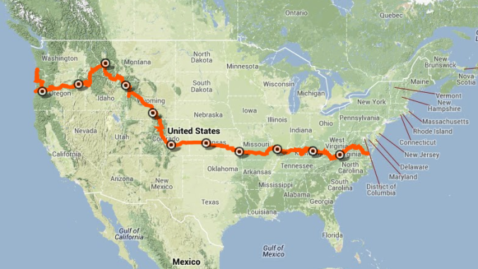 TransAm map